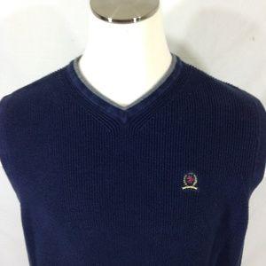 Tommy Hilfiger Sweater Vest Blue Size Large